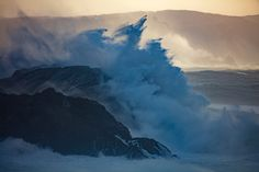 Crashing Waves II, County Mayo, Connacht Province, Republic Of Ireland by Gareth McCormack - canvas print