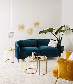 Anthropologie Corinne Sofa | Scandinavian Interior Design | #scandinavian #interior