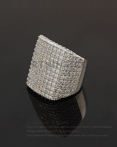 high quality copper fashion big cubic zirconia rings nickel and lead free