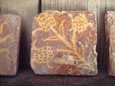Thistle tile from Chateau de Germolles