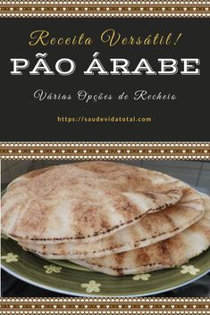 Pão Árabe Vegan Pizza Recipe, Pizza Recipes, Bread Recipes, Cooking Recipes, Arabian Food, World Recipes, Tasty Dishes, Food Truck, I Love Food