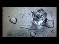 Crazy Realistic drawing 3D - Block of Ice - YouTube