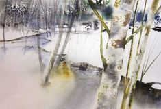 reine marie pinchon Winter Watercolor, Landscape Paintings, Artist Inspiration, Inspiration, Painting, Watercolor And Ink, Abstract Artwork, Art, Ink
