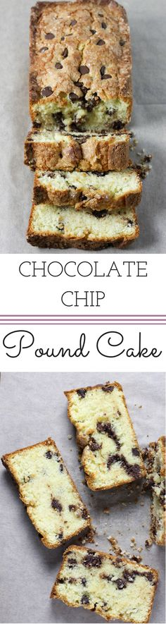 Chocolate Chip Pound Cake | Dough-Eyed