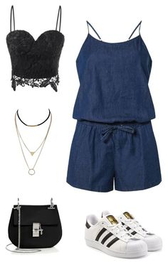 """""""Casual style"""" by katrinferreira on Polyvore featuring Dorothy Perkins, adidas Originals and Chloé"""