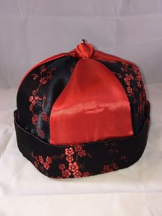 Children& Red Black Chinese Oriental Qing Dynasty Hat Missing A Tassel Halloween Costumes For Sale, Qing Dynasty, Hats For Men, Red Black, Tassels, Oriental, Chinese, Baseball Caps, Children
