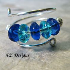 PZ Designs - Handmade Jewelry: DIY: Simple Wire-Wrapped Ring Tutorials (would make a larger version for a bracelet) Beads Jewelry, Metal Jewelry, Jewelry Crafts, Jewlery, Jewelry Ideas, Stone Jewelry, Bijoux Fil Aluminium, Do It Yourself Fashion, Ring Tutorial