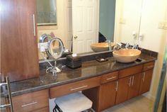 Imagine having all of that gorgeous counter top in your bathroom, it's style and practicality combined!