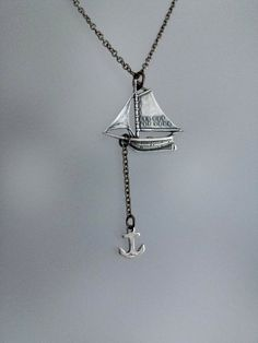 Sailboat Necklace Ox Sterling Silver by sandybeachcollection