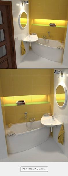 yellow small bathroom
