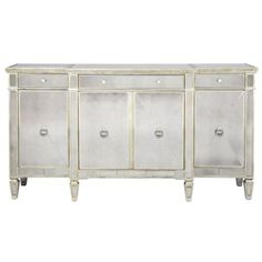 Borghese Mirrored Buffet from Z Gallerie  to be placed on wall behind sofa next to window in great room