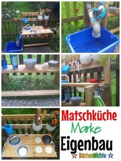 Are you looking for inspiration on how your self-made mud kitchen could look?Are you looking for inspiration on how your self-made mud kitchen could look? Here you will find a gallery full of slush Outdoor Play, Outdoor Decor, Mud Kitchen, Maila, Summer Kids, Children's Place, Dream Garden, Diy Crafts For Kids, Kids And Parenting