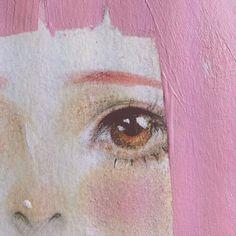 Illustration / blackpawwy: Little piece of Miwako-chan Pretty Art, Cute Art, Art Sketches, Art Drawings, Posca Art, Arte Sketchbook, Simple Acrylic Paintings, Aesthetic Art, Art Inspo