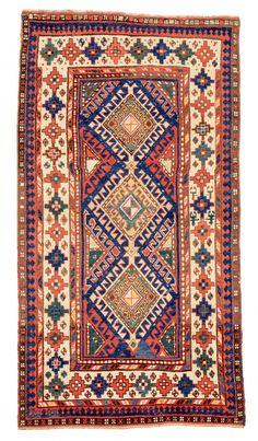 Shulaver Kazak Caucasus ca. 1880 6ft. 9in. x 3ft. 8in.