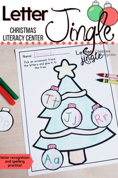 Fun Christmas Activities, Craft Activities For Kids, Kindergarten Activities, Winter Activities, Kindergarten Centers, Kindergarten Classroom, Literacy Centers, Christmas Alphabet, Christmas Crafts