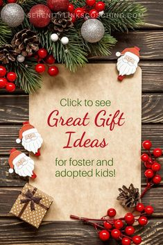 Finding appropriate gifts for traumatized and attachment disordered children can be tough! Check out this giant list of ideas that work for hurt kids! Holiday Dates, Holiday Gifts, Holiday Decor, Holiday Wishes, Days To Christmas, Merry Christmas, Special Needs Mom, Foster Parenting, Parenting Tips