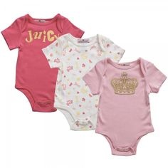 Designer Baby: Juicy Couture Baby Onesie Gift Set