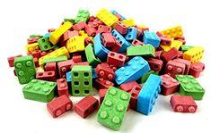 Lego Batman Birthday Party food idea: Candy blocks