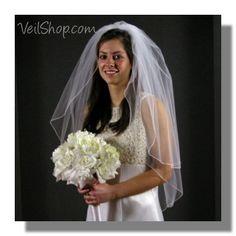 Bridal Veil: Std full, 2 layer, elbow, fine emb edge, 29/35-in (petite finger tip length) 4