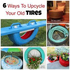 6 ways to upcycle your old tires