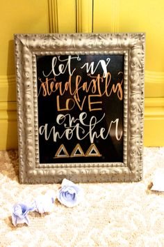 Print Tri Delta Let Us Steadfastly Love One Another by HoneySteel