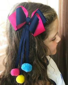 Set of 6 pcs 4 inch pigtails hair bows for girls by LelysBows Ribbon Hair Bows, Diy Hair Bows, Pigtail Hairstyles, Diy Hairstyles, Hair Bow Tutorial, Boutique Hair Bows, Making Hair Bows, Diy Hair Accessories, Girls Bows