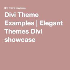 Divi Theme Examples | Elegant Themes Divi showcase
