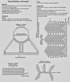Clube do Crochê: Jogo de Banheiro (com gráfico)4/6