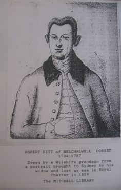 Robert Pitt, great x four grandfather, copy of a portrait dated c1770