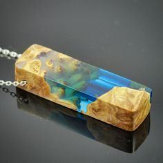 Blue resin and burl