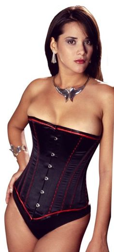 b0668a452e0 Vollers Black Satin Corset with Red Embroidery £203.00 A stunning Vollers  satin corset
