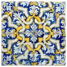 17th Century Portuguese Tile Pattern | From a unique collection of antique and modern architectural elements at https://www.1stdibs.com/furniture/building-garden/architectural-elements/
