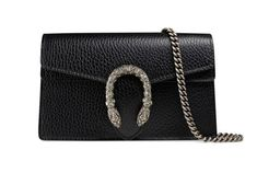 Every woman dreams of owning a high-end designer bag. Leather Chain, Grey Leather, Leather Bag, Swarovski, Gucci Store, Gucci Gifts, Popular Bags, Dionysus, Gucci Handbags