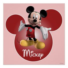 Mickey Mickey Clubhouse | Head Icon Poster