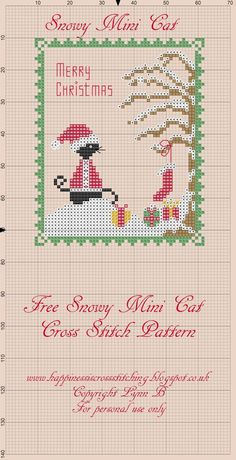Free Mini Cat Series Cross Stitch Patterns      All the mini cat patterns are available below, just right click on the cross stitch grids...