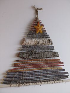 woven christmas tree - maybe sub in cinnamon sticks and star anise for the kitchen
