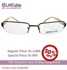 COSMOLINE HM4139 Brown GRADIENT EYEGLASSES http://www.glareaffair.com/eyeglasses/cosmoline-hm4139-brown-gradient-eyeglasses.html  Brand : COSMOLINE  Regular Price: Rs1,800 Special Price: Rs899  Discount : Rs901 (50%)