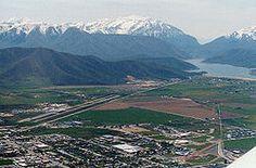 Heber City Utah | Heber Valley with Deer Creek Reservoir