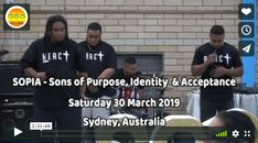SOPIA Ministry FULL Program – Saturday 30 March 2019