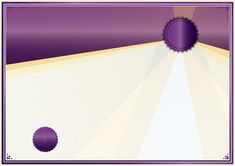 Purple border pattern vector certificate background