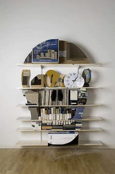 Clever skull bookcase.