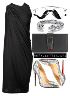 """Untitled #1671"" by stylebyteajaye ❤ liked on Polyvore featuring David Yurman, Rick Owens, Opening Ceremony and Christian Louboutin"