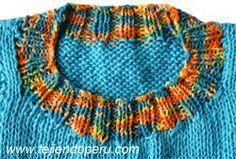 Cuello redondo - Tejiendo Perú Knitting Stitches, Knitted Hats, Knit Crochet, Crocheting, Bb, Sweaters, Crochet Necklace, Knits, Crochet Stitches