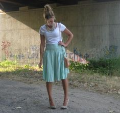 end of summer style {love the skirt}