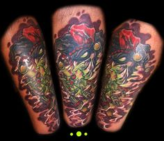 Evil Joker Clown Tattoo | Tattoobite.com