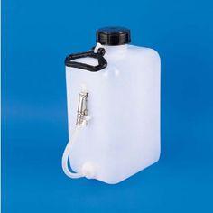 Flaschen mit Quetschhahn - Weich-Polyethylen (PE-LD), viereckig