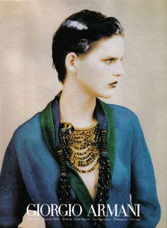 Color.    Stella Tennant photographed by Paolo Roversi - Giorgio Armani Ad Campaign: Spring/Summer 1997