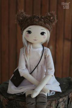 Zuzia – roma górska, handmade doll by romaszop