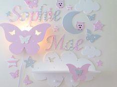 Regale - Wandregal für kleine Prinzessinen - ein Designerstück von PinkyKiky bei DaWanda Unicorn Bedroom, Baby Bedroom, Kids Bedroom, Girl Decor, Baby Room Decor, Door Letters, Baby Art, Baby Crafts, Kids Furniture