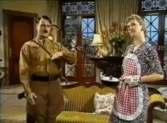 A 1990 British TV show canceled after one episode called, wait for it, Heil Honey, I'm Home. Too soon? Always.